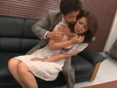 Risa Kasumi Asian school teacher fets a fucking