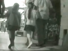 Mature wife up skirt video with sexy chicks on the street