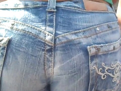 Tight Ass Jeans up her hole