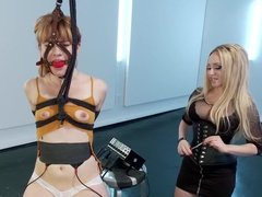 Aiden Starr Trains Pretty Redhead To Be An Electroslut!