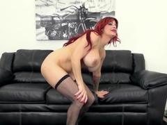Hottest pornstar Alyssa Lynn in Crazy Fake Tits, Redhead adult movie