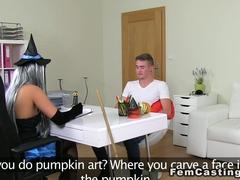 Amateur guy fucks costumed agent voyeur euro
