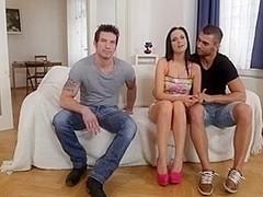 Sexy Hunks Fucking In Trio