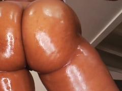 Black big boobed Pursuajon has nasty sex