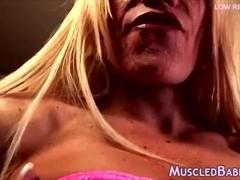 Gym Milf Toys Her large wet clitoris