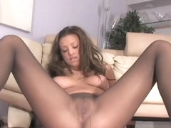 Carmen McCarthy Begging You To Cum On Her Nylon Covered Pussy