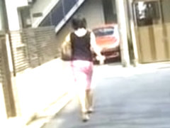 She almost got home when some crazy guy skirt sharked her
