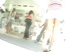 Enjoy in hot babes caught on cam in public by upskirt voyeur