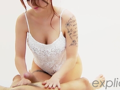 French busty babe Marie Clarence Marlo giving exotic oil massage and blow job