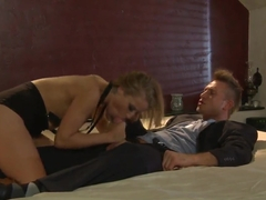 Blonde bitch Alyssa Branch loes big stiff cocks