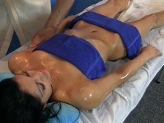 Oiled and drilled during a massage