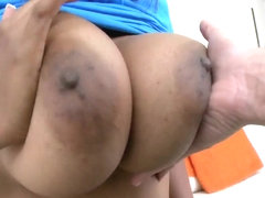 Play with big tits and ass of black amateur Alia Starr