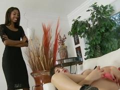 Incredible pornstars Adriana Malao and Paris Lincoln in fabulous facial, small tits adult clip