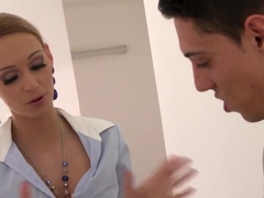 Best pornstar Erica Fontes in crazy blowjob, blonde adult scene