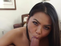 Horny pornstar Cindy Starfall in Amazing Deep Throat, Facial sex video