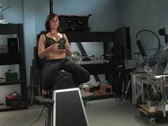 Best fetish, public porn scene with hottest pornstar Eadie Sexwick from Fuckingmachines