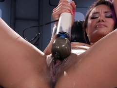 Amazing fetish, squirting adult video with exotic pornstar Annie Cruz from Fuckingmachines