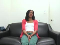 Amateur tight ass slut Isabella Pena has interview