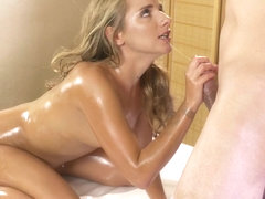 Sofi Goldfinger & Steve Q in Anal creampie for hot young Russian - MassageRooms