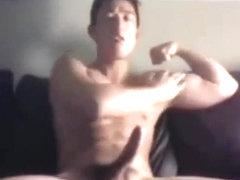 Homosexual oriental twink jackky jerks off