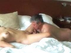 Spying a milf getting explosive orgasm