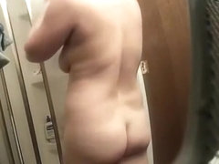 Wife undressing before shower