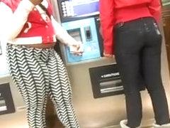 Ebony girl in tight leggings
