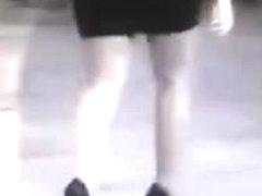 High heels in Paris 02  red heels, lovely bottom