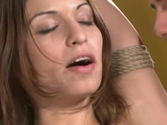 Horny anal, fetish porn scene with incredible pornstars Amber Rayne and Derrick Pierce from Dungeo.