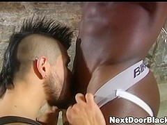 Bound muscly gay rimmed and blown