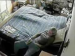 Mamma Caught Masturbating on Hidden Webcam