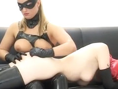 Amazing amateur Latex, Threesomes adult clip