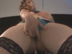Amazing Japanese chick Mami Yuuki in Crazy Stockings, Solo Girl JAV movie