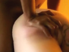 Cheating white housewife gets doggystyle fucked by a black guy