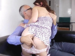 Teen fucked by old perv