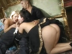 Retro aristocratic sluts getting pounded by hot cocks