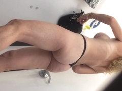 Fake Tits on Blonde 2