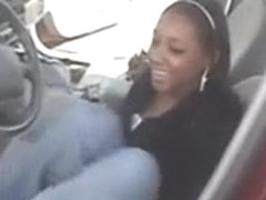 ebony soles in car