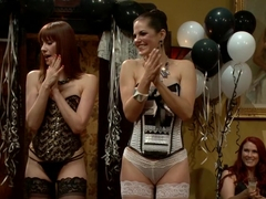 Crazy public, fetish sex clip with exotic pornstars Audrey Rose, Justine Joli and Beretta James fr.