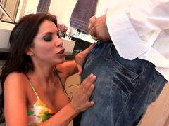 Aleksa Nicole strips her dress and gets fucked