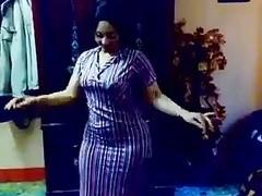 Slut is belly dancing for me in brunette amateur clip