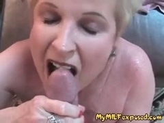 Granny mother I'd like to fuck in nature's garb - aged whore taking loads of cum