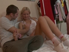 Gorgeous Coed Heather Insists That The Cum Goes In Her Mouth