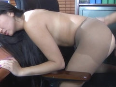 Anal-Pantyhose Video: Mima A and Frederic