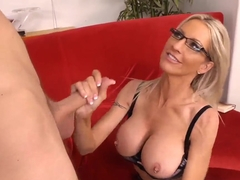 Danny Wylde gets sucked by busty milf Emma Starr