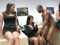 Raunchy fellatio with strippers