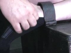 Bondage submissive tormented by dominators