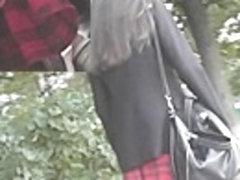 Steal a look up red tartan mini petticoat