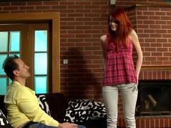 Crazy pornstar in horny redhead adult scene