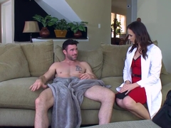 Cute doctor Chanel Preston takes care of her horny patient